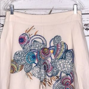 Lavand Skirts - Lavand NWT XL Embroidered Print A-Line Skirt